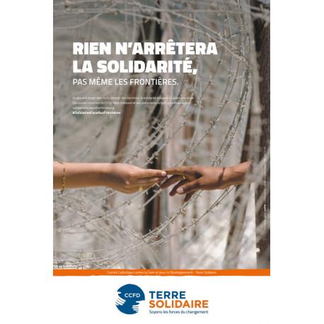 Affiche Solidaires face aux frontières