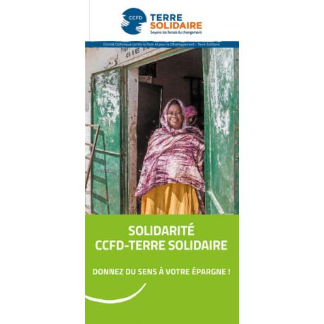 """Dépliant """"Solidarité CCFD-Terre Solidaire"""""""