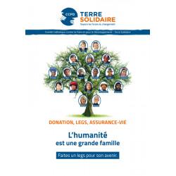 """Brochure libéralités """"L'humanité est une grande famille """""""