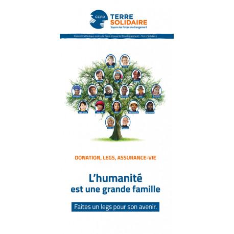 """Dépliant libéralités  """"L'humanité est une grande famille """""""