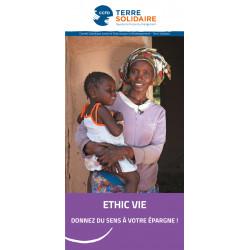 Dépliant ETHIC VIE Assurance Vie solidaire