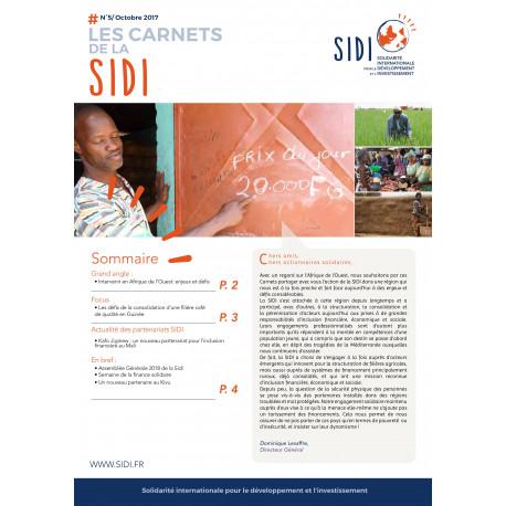 Feuillet n°5 « Les Carnets de la SIDI - Oct 2017 »