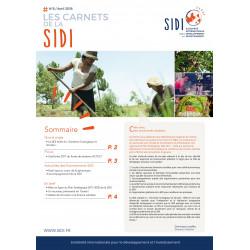 Feuillet n°6 « Les Carnets de la SIDI n°6 »