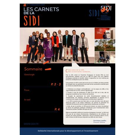 Feuillet n°7 « Les Carnets de la SIDI n°7 » Déc 2018