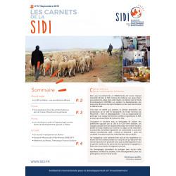 Feuillet n°9 « Les Carnets de la SIDI n°9 » - Sept 2019