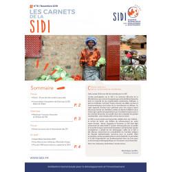 Feuillet n°10 « Les Carnets de la SIDI n°10 » - Nov 2019