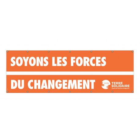 Banderole CCFD « Soyons les forces du changement »