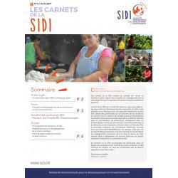Feuillet n°4 Avril 2017 « Les Carnets de la SIDI n°4 »