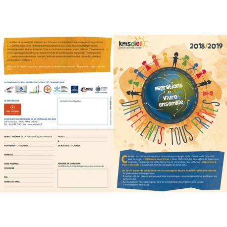 Dépliant présentation de la Campagne Kilomètres de Soleil 2018/2019