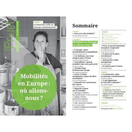 """BROCHURE : REVUE PROJET N°369 """"Mobilité en Europe : où allons-nous ?"""""""
